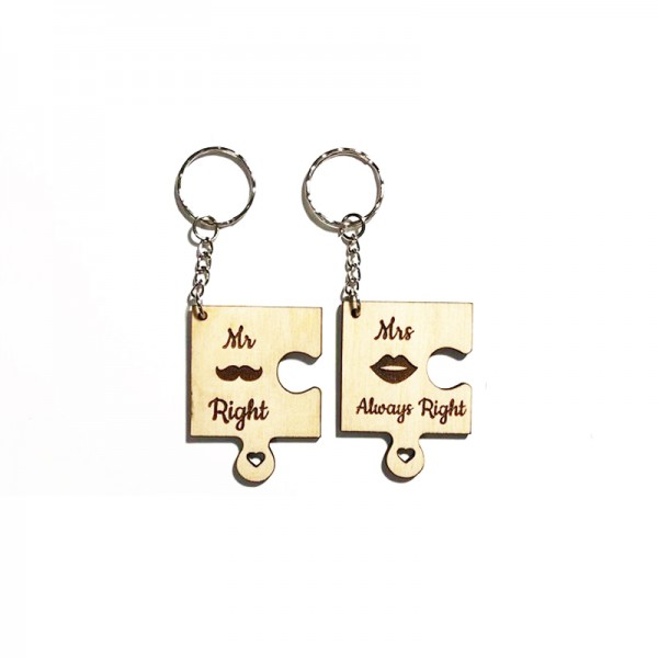 MR RIGHT|MRS ALWAYS RIGHT KEYCHAINS